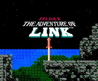 Zelda 2 Title Screen