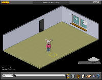 Empty Habbo Hotel room