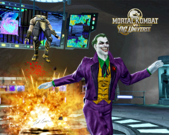 The Joker versus Scorpion in Mortal Kombat vs DC Universe screenshot