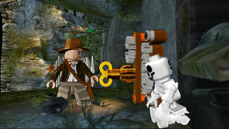 Using keys to lower platforms or open doors play a huge role in Lego Indiana Jones