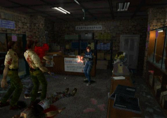 Resident Evil 2 Gunshop Fight Screenshot