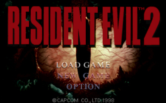 Resident Evil 2 Title Screenshot