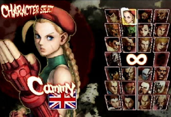 Street Fighter 4 character select screen
