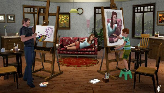 The Sims 3 drawing screenshot