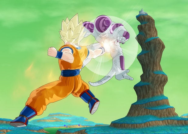 Goku hits Frieza where it hurts in Dragon Ball: Raging Blast