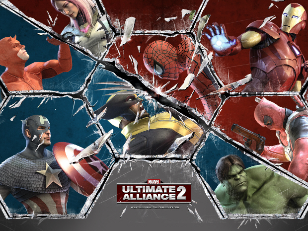 Marvel Ultimate Alliance 2 cast artwork