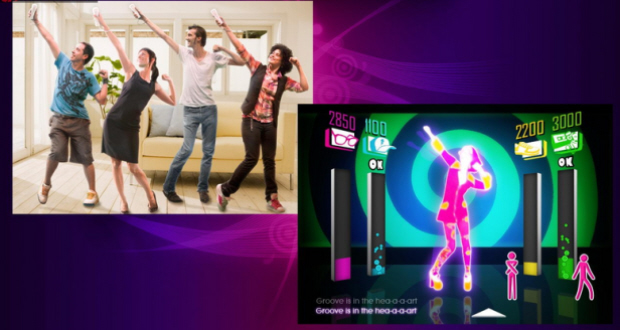 Just Dance screenshot (Wii). Soundtrack includes 32 songs