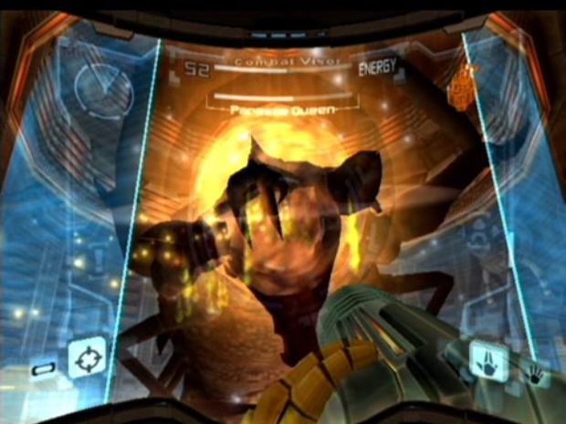 Metroid Prime Parasite Queen Boss Screenshot