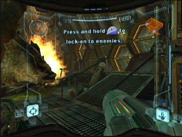 Metroid Prime Tutorial Pirate Ship Screenshot