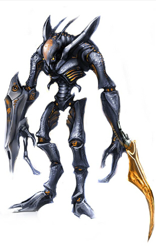 Space Pirate Metroid Prime artwork. Scan computer terminals to find logs of their journals