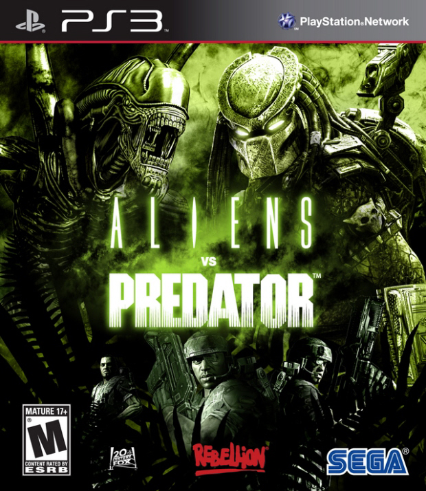 Aliens vs Predator final box artwork (PS3 version)