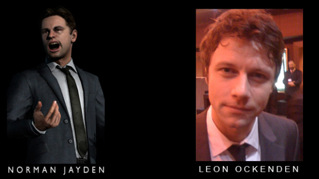 Norman Jayden played by Leon Ockenden in Heavy Rain