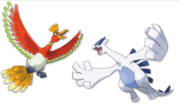 HeartGold HoOh SoulSilver Lugia artwork Pokemon