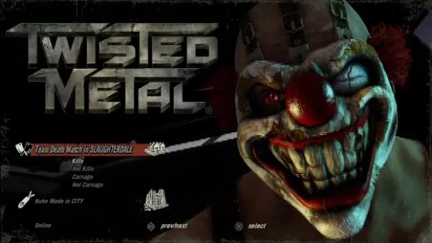 Twisted Metal PS3 screenshot Sweet Tooth artwork
