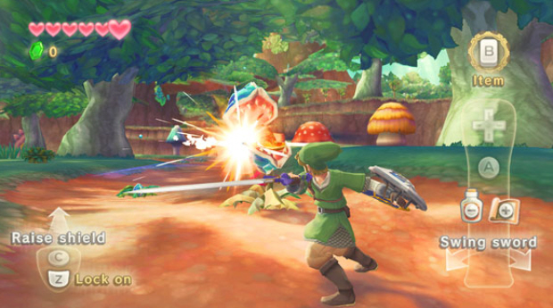 Zelda: Skyward Sword gameplay screenshot