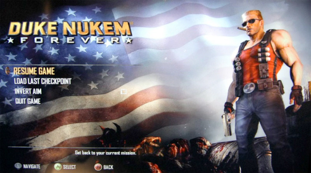 Duke Nukem Forever screenshot (Xbox 360, PS3, PC) - Title Screen