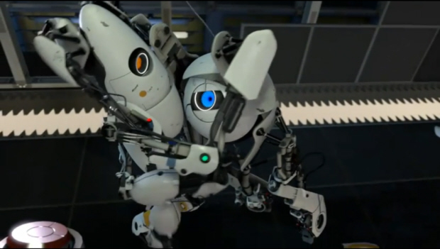 Portal 2 shows co-op love! (screenshot)
