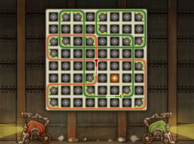 Professor Layton and the Unwound Future puzzle 125 Connect the Bots solution screenshot