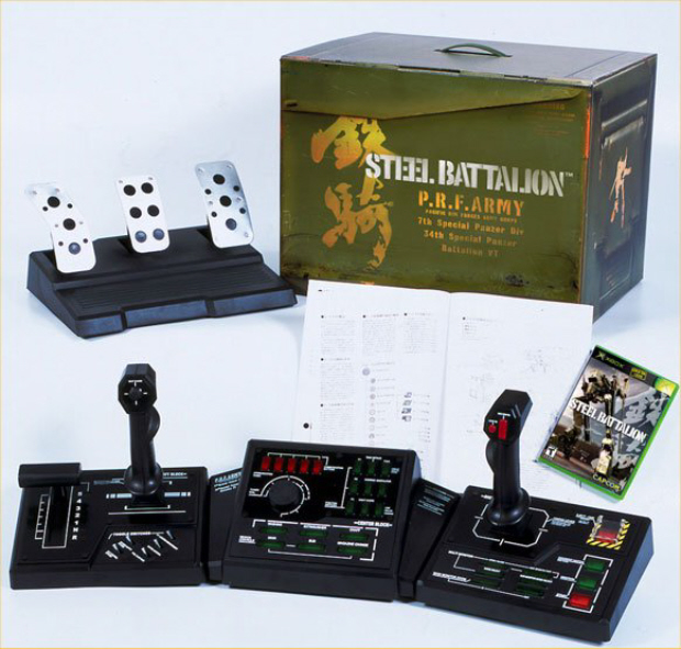 Steel Battalion 1 Xbox controller with pedals and box package
