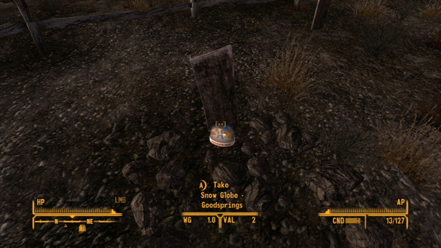 Fallout New Vegas Snow Globe Goodsprings Cemetery Screenshot for the PC, Xbox 360, PS3 Locations Guide