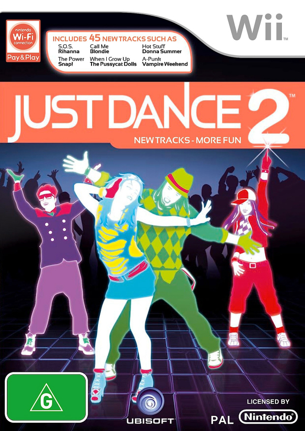 Just Dance 2 UK official box artwork Wii