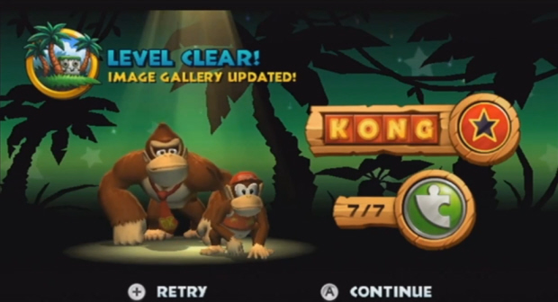 Donkey Kong Country Returns Kong Letters and Puzzle Pieces screenshot