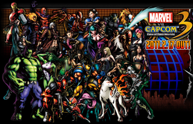 Marvel vs Capcom 3 full roster wallpaper