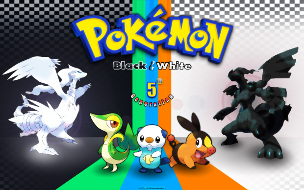 Pokemon Black and White colorful wallpaper