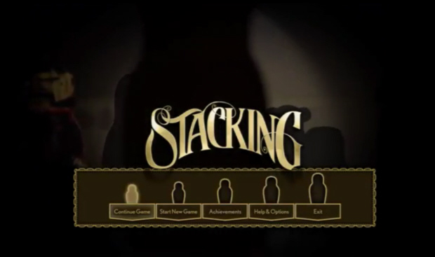 Stacking walkthrough title screenshot (XBLA, PSN)
