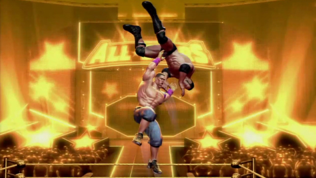 WWE All-Stars legends characters list screenshot (360, PS3, Wii, PSP, PS2)