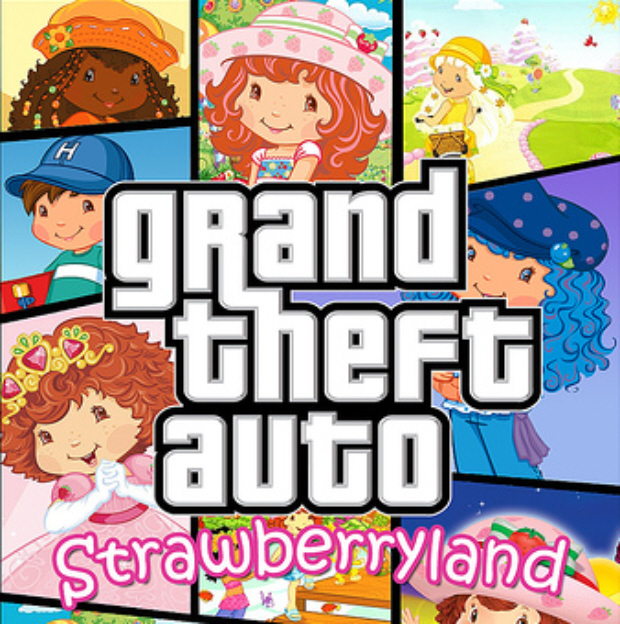 Grand Theft Auto Strawberryland fake box artwork