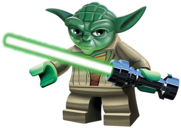 Yoda Lego Star Wars 3 characters artwork