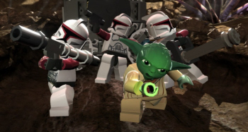 Yoda is playable in Lego Star Wars 3