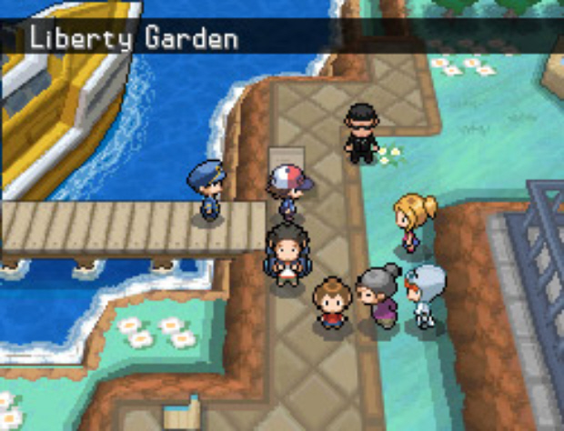 Victini Liberty Garden screenshot Pokemon Black and White (DS)