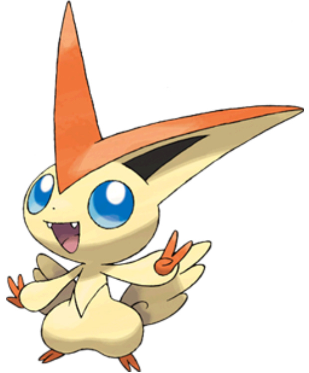 Victini Pokemon Black and White artwork Legendary special