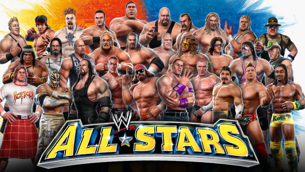 WWE All Stars wallpaper - Class Photo of Full Character Roster