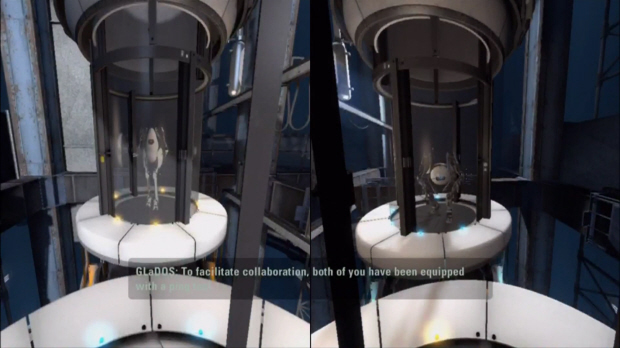 Portal 2 co-op walkthrough screenshot (Xbox 360, PS3, PC)
