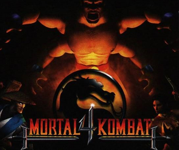Mortal Kombat 4 Goro logo from the PS1 version of MK4
