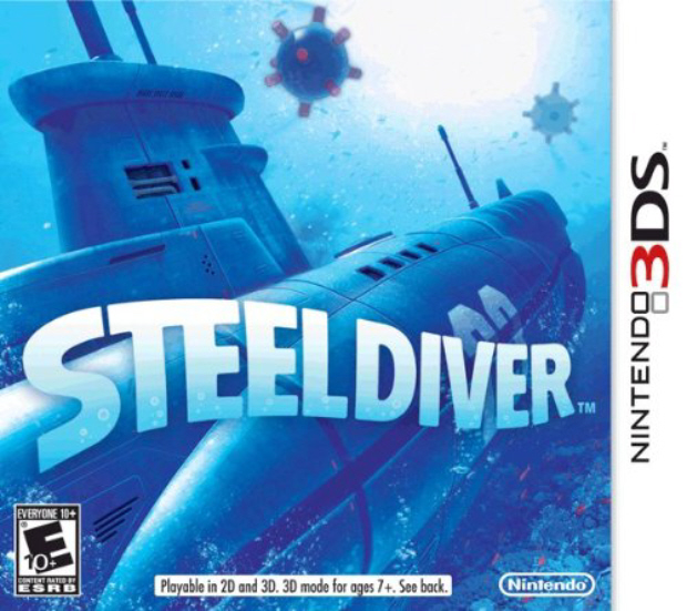 Steel Diver American box artwork for Nintendo 3DS