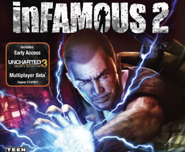InFamous 2 walkthrough box artwork for PS3