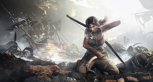 Tomb Raider gritty artwork
