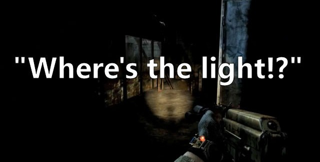Metro: Last Light screenshot not showing a lot of light