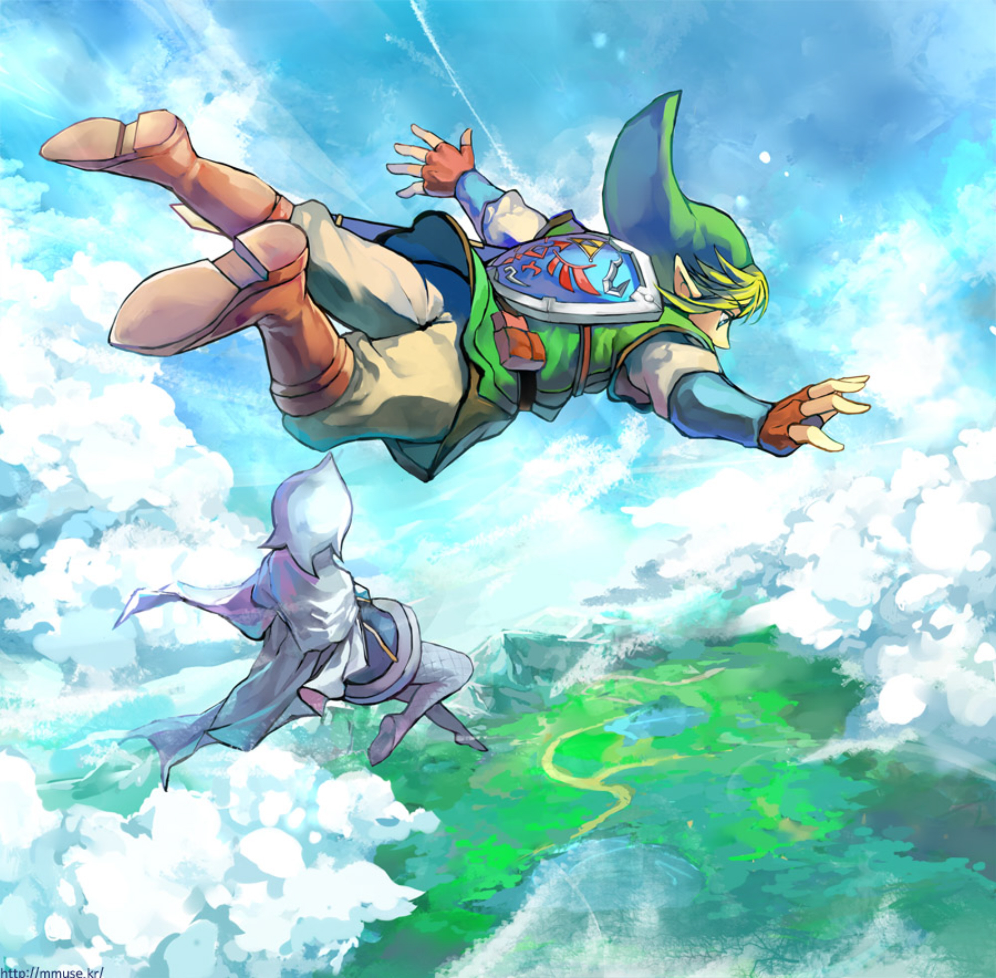 Zelda Wallpapers: The Legend Of Zelda: Skyward Sword Wallpaper Freefalling