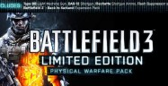 Battlefield 3 Limited Edition Physical Warfare Pack