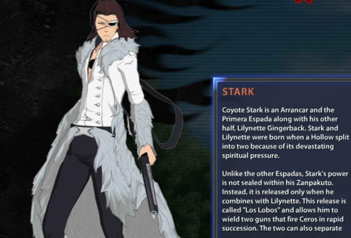 Bleach: Soul Resurreccion Stark Bio and Artwork