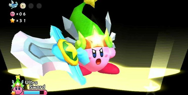 Kirby's Return to Dreamland Screenshot - SWORD KIRBY!
