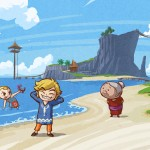 The Legend of Zelda Wallpaper (The Wind Waker) - Link's Sis and Grandma On Beach