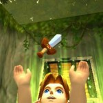 Zelda: Ocarina of Time 3D Screenshot. ITEM GET! Link picks up the Kokori Sword!