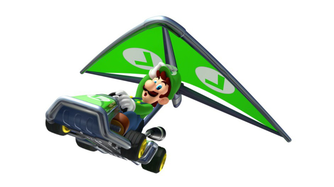 mario kart 7 wallpaper luigi fly