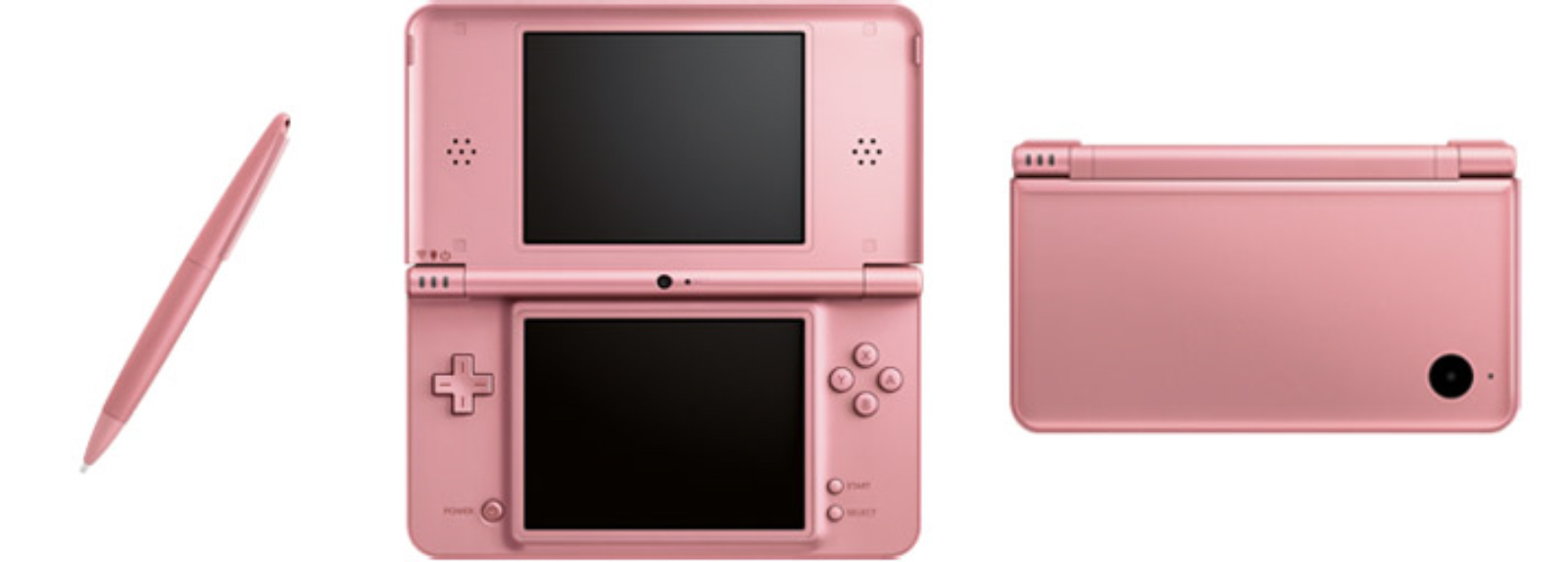 pink dsi xl called metallic rose pic shows open closed. Black Bedroom Furniture Sets. Home Design Ideas